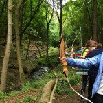 Archery in the woods